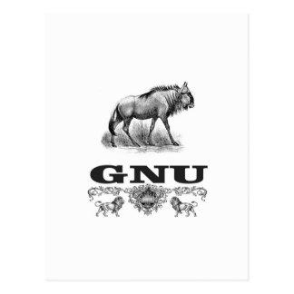 gnu power postcard