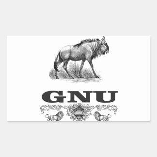 gnu power sticker