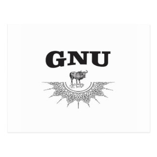 gnu wing postcard