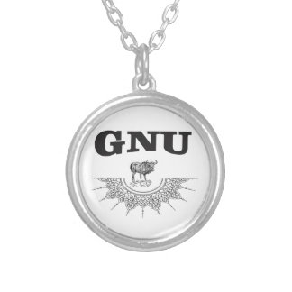 gnu wing silver plated necklace