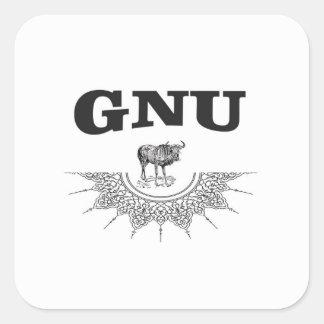 gnu wing square sticker