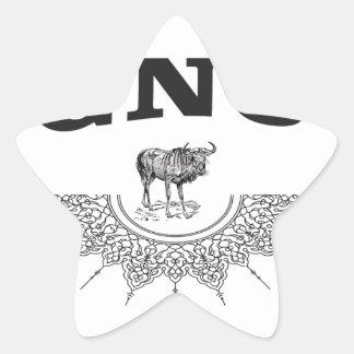 gnu wing star sticker