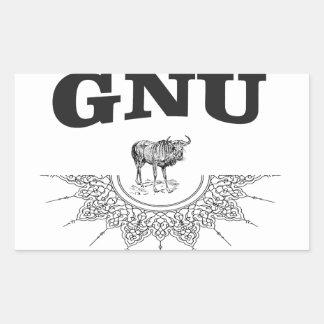 gnu wing sticker