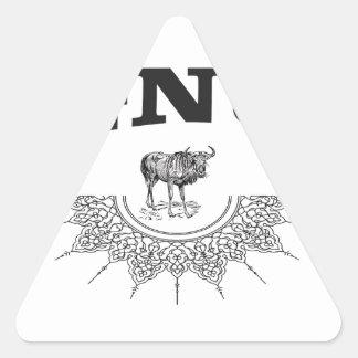 gnu wing triangle sticker
