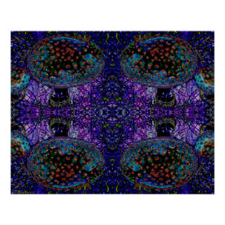 """Go Ask Alice"" Abstract Psychedelic Mushroom Art Poster"