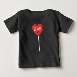 go away anti valentines day baby T-Shirt