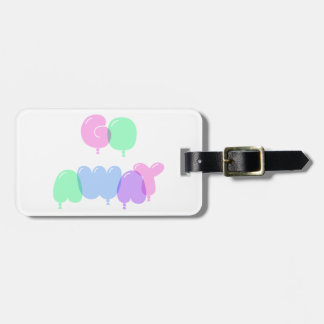 Go Away Bubble Letters Luggage Tag