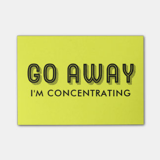 Go Away Customizable Funny Message Post-it Notes