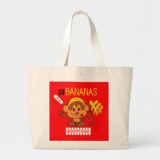 Go Bananas Shopping Tote Bag w/Chinese Character