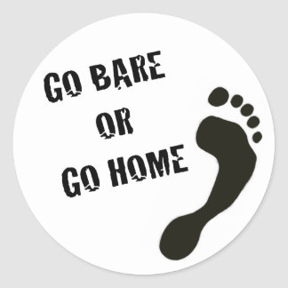 Go Bare or Go Home Sticker