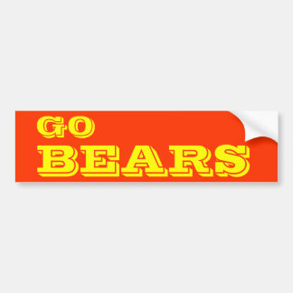 Go Bears* Bumper Sticker Car Bumper Sticker
