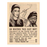"""Go Beatnik"" Postcard"