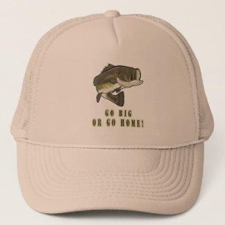 Go Big or Go Home: Largemouth Bass Trucker Hat