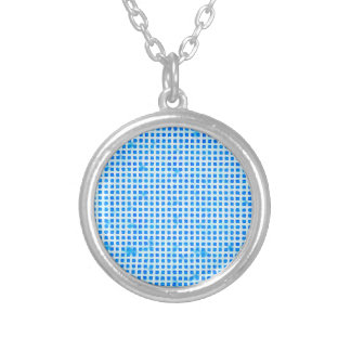 Go Blue! Silver Plated Necklace