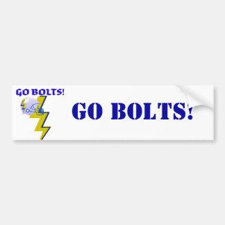 """""""GO BOLTS"""" LIGHTNING BOLT FOOTBALL HELMET PRINT BUMPER STICKER"""