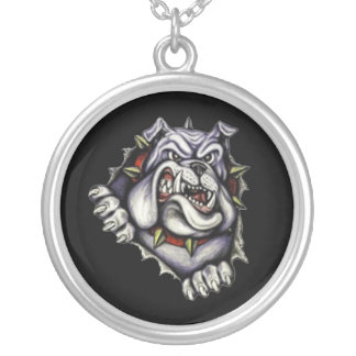 Go Bulldogs! Silver Plated Necklace