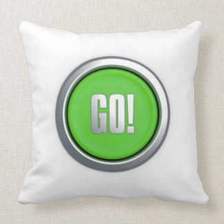Go! Button Throw Pillow