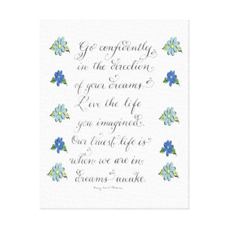 Go confidently inspirational typography quote canvas print
