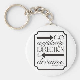 Go Confidently Keychain