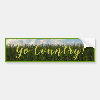 Go Country - Country Corn Field Bumper Sticker