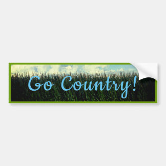 Go Country - Country Corn Field Ver.2 Bumper Sticker