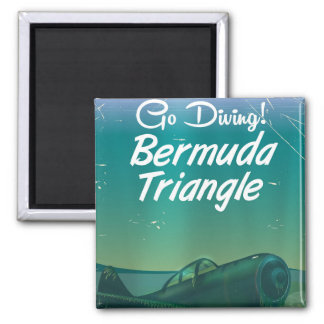 Go Diving! Bermuda triangle travel poster Magnet