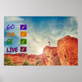 Go-Do-Be-Live Custom Matte Poster