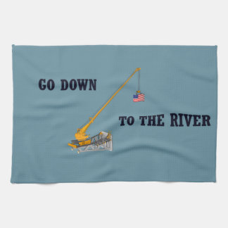 Go down to the river hand towels