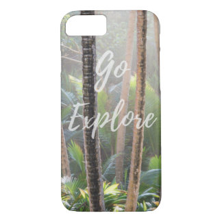 Go Explore green rainforest iphone case