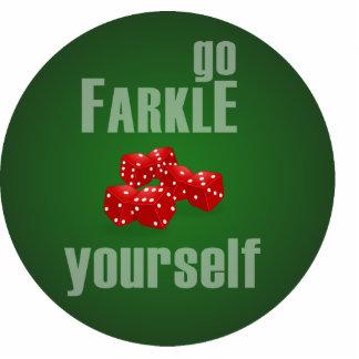 Go Farkle Yourself Photo Sculpture Keychain