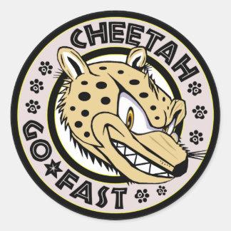Go Fast Cheetah Round Sticker
