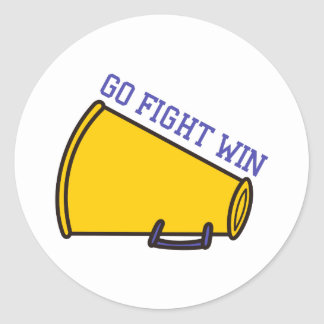 Go Fight Win Classic Round Sticker