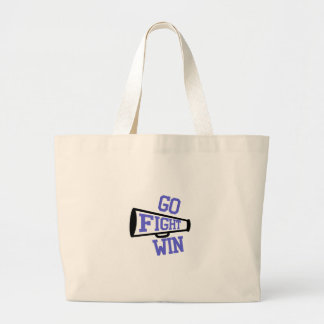 Go Fight Win Large Tote Bag