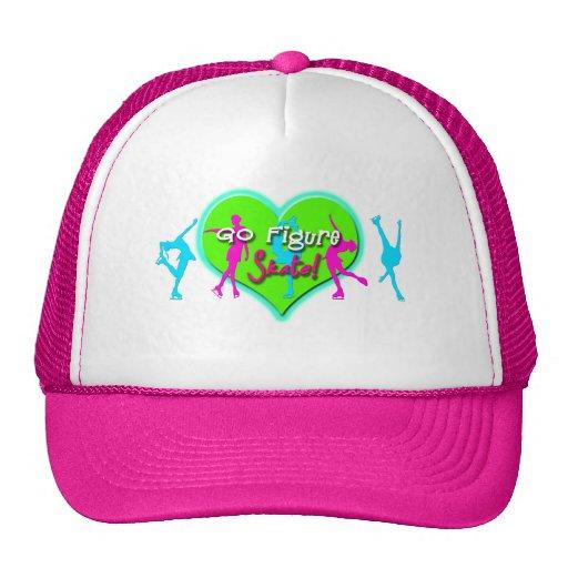 Go Figure Skate (Pink & Blue) Trucker Hat
