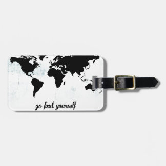 Go find yourself bag tag