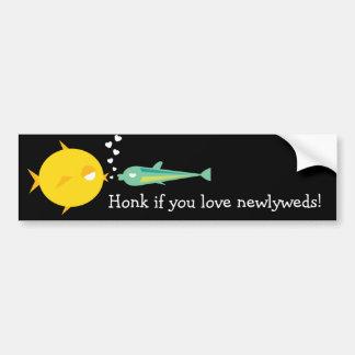 Go Fish_Deep Love_Honk if you love newlyweds Bumper Sticker