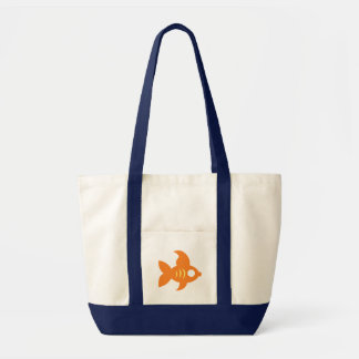 Go Fish_Orange Roughly Glamorous Goldfish Tote Bag