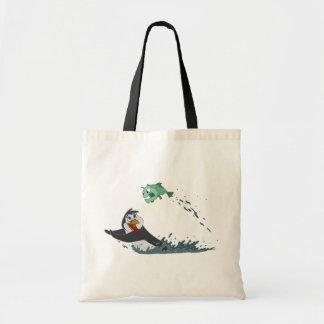 """Go Fish"" Penguin Tote Bag"