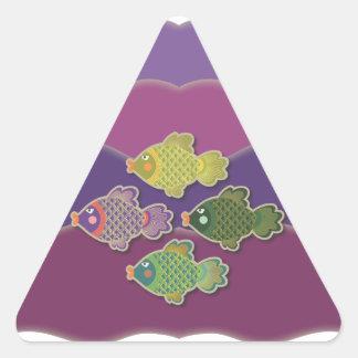 Go Fish Purple Triangle Sticker