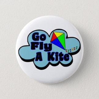 Go Fly A Kite 2 Inch Round Button