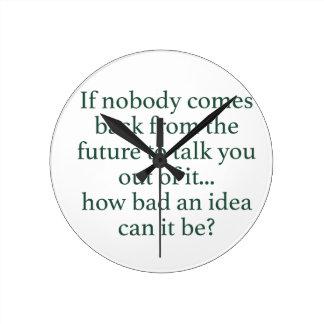 Go For It! Round Clock