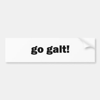 go galt! bumper sticker