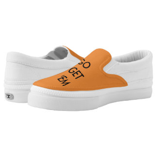 Go Get 'em Tiger Orange Slip on! Slip-On Sneakers
