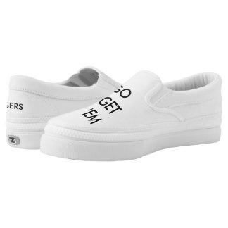 Go Get 'em Tiger Simple White Slip on! Slip-On Sneakers
