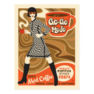 Go Go Mojo Coffee Postcard