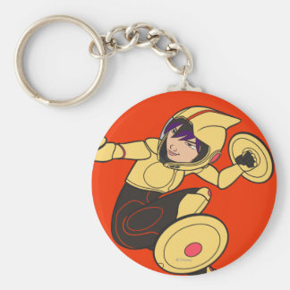Go Go Tomago Yellow Suit Basic Round Button Keychain