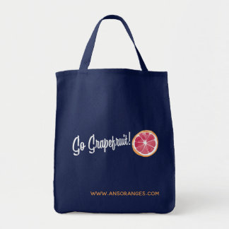 Go Grapefruit! Navy Tote Bag
