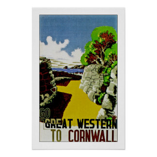 Go Great Western to Cornwall Poster