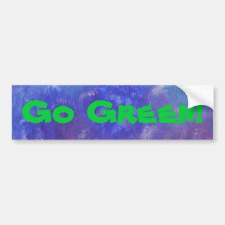 Go Green Abstract Painting Sticker Bumper Sticker