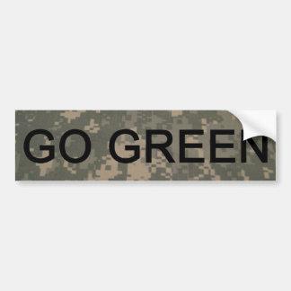 Go Green Army Style Bumper Sticker